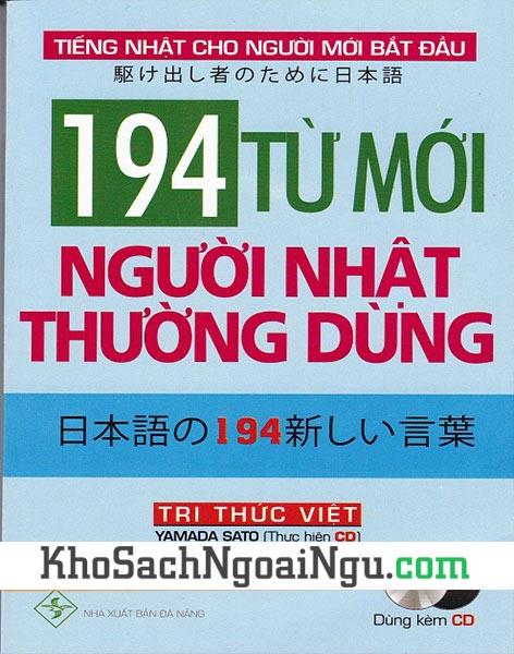 Sách 194 từ mới người Nhật thường dùng (Kèm CD)