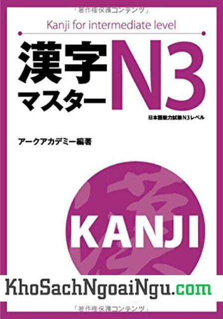 Sách luyện Hán tự Kanji master N3