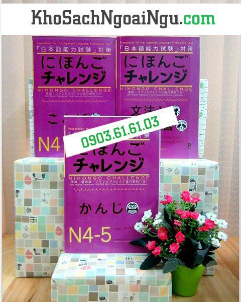 Nihongo challenge – Trọn bộ 3 cuốn