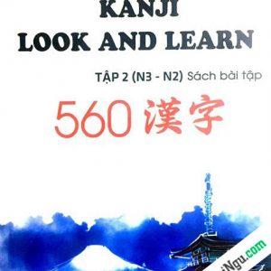 Kanji Look and Learn N3 và N2 – Sách Bài tập – Nhật Việt