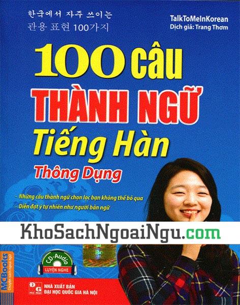 Sách 100 câu thành ngữ tiếng Hàn thông dụng