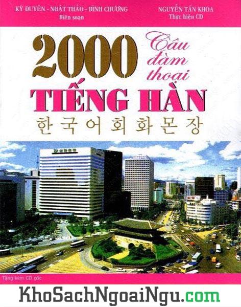 Sách 2000 câu đàm thoại tiếng Hàn