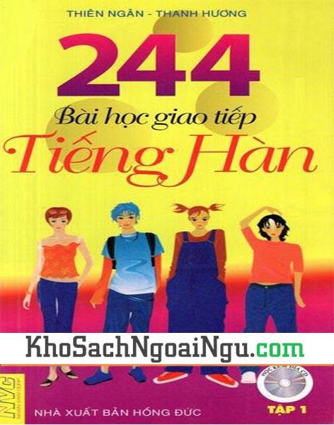 Sách 244 bài học giao tiếp tiếng Hàn Tập 1