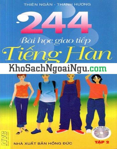 Sách 244 bài học giao tiếp tiếng Hàn Tập 2