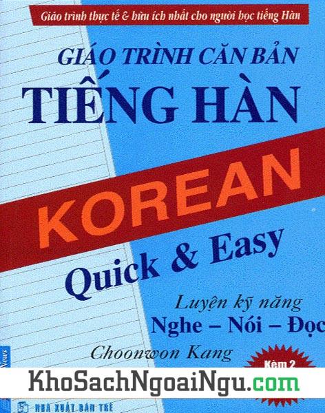 Sách Giáo trình căn bản tiếng Hàn