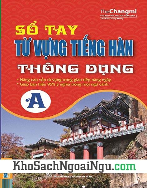 Sách Sổ tay từ vựng tiếng Hàn thông dụng A