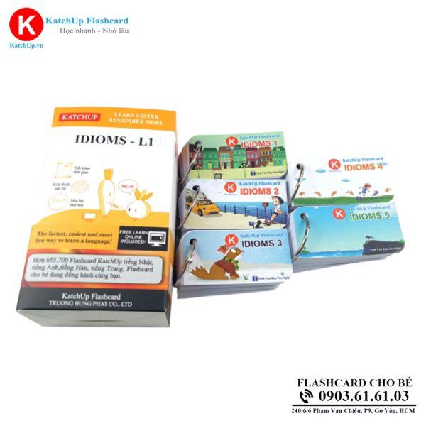 Flashcard IDIOMS - Thẻ học Thành ngữ tiếng Anh - Standard