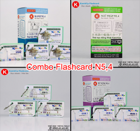 COMBO trọn bộ KatchUp Flashcard sơ cấp tiếng Nhật từ vựng, ngữ pháp, kanji, mẫu câu N5,4