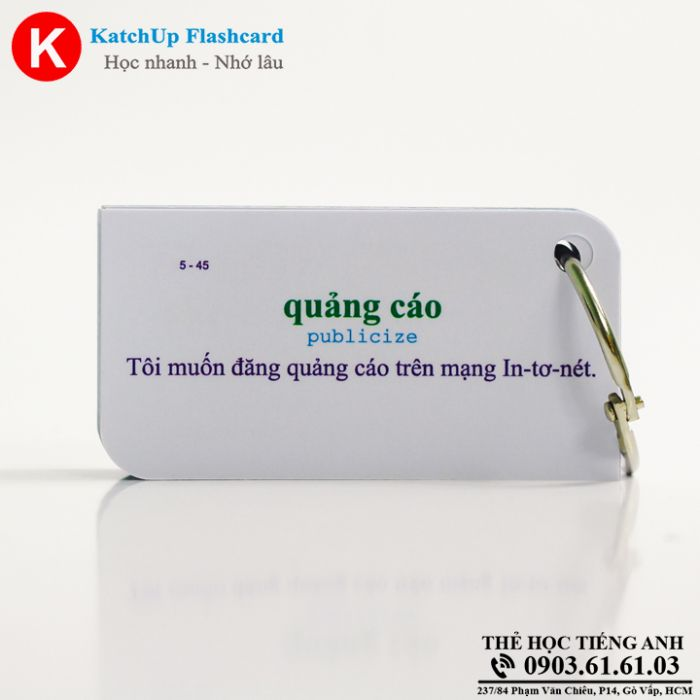 Bộ Flashcard KatchUp - Employment, management and marketing  - Best Quality (22B)