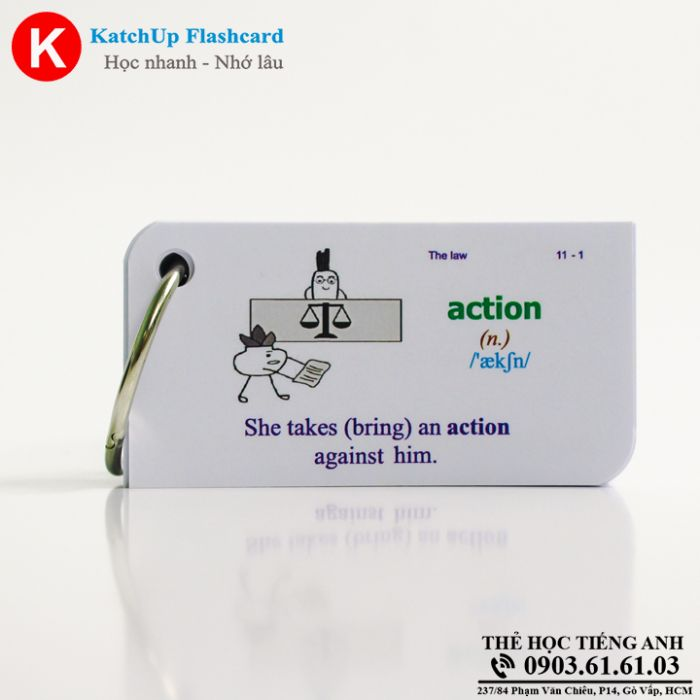 Bộ Flashcard KatchUp - The law - Best Quality (23B)