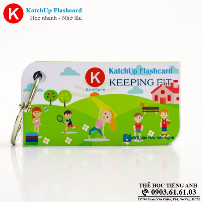 Bộ KatchUp Flashcard - Keeping fit - Best Quality (08B)