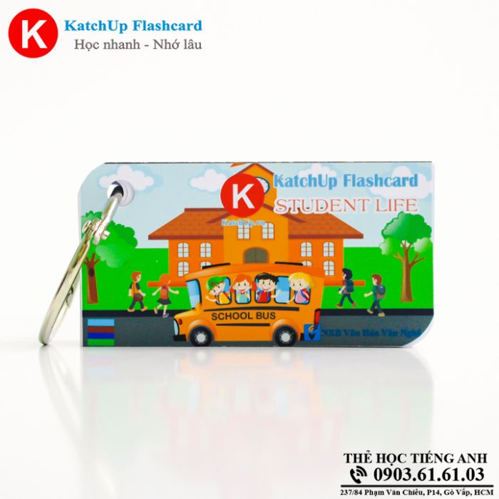 Bộ KatchUp Flashcard - Student Life - Best Quality (10B)