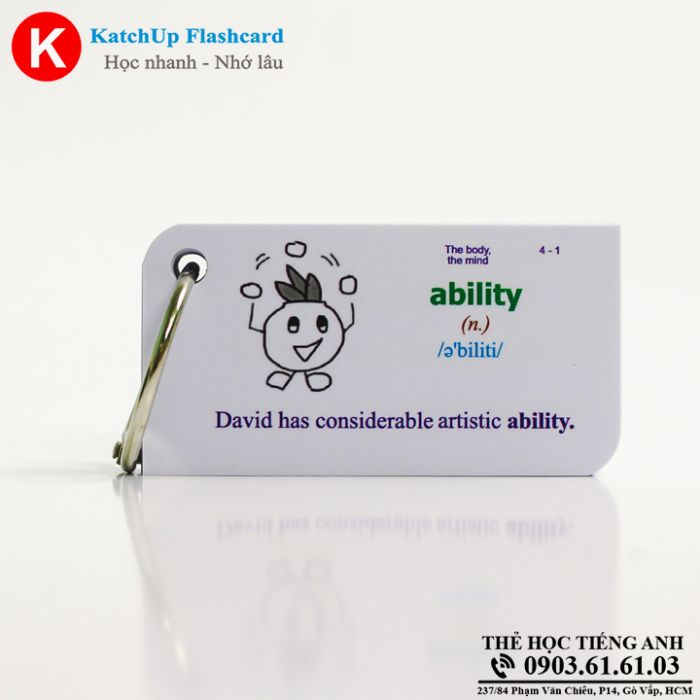 Bộ KatchUp Flashcard - The body, the mind - Best Quality (07B)
